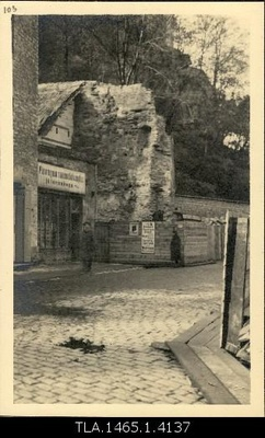 Nunne Gate, ruins of the second tower.  duplicate photo