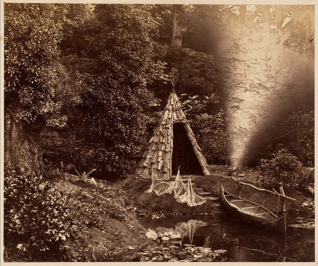 The Wigwam, a Canadian Scene at Penllergare - Photographs