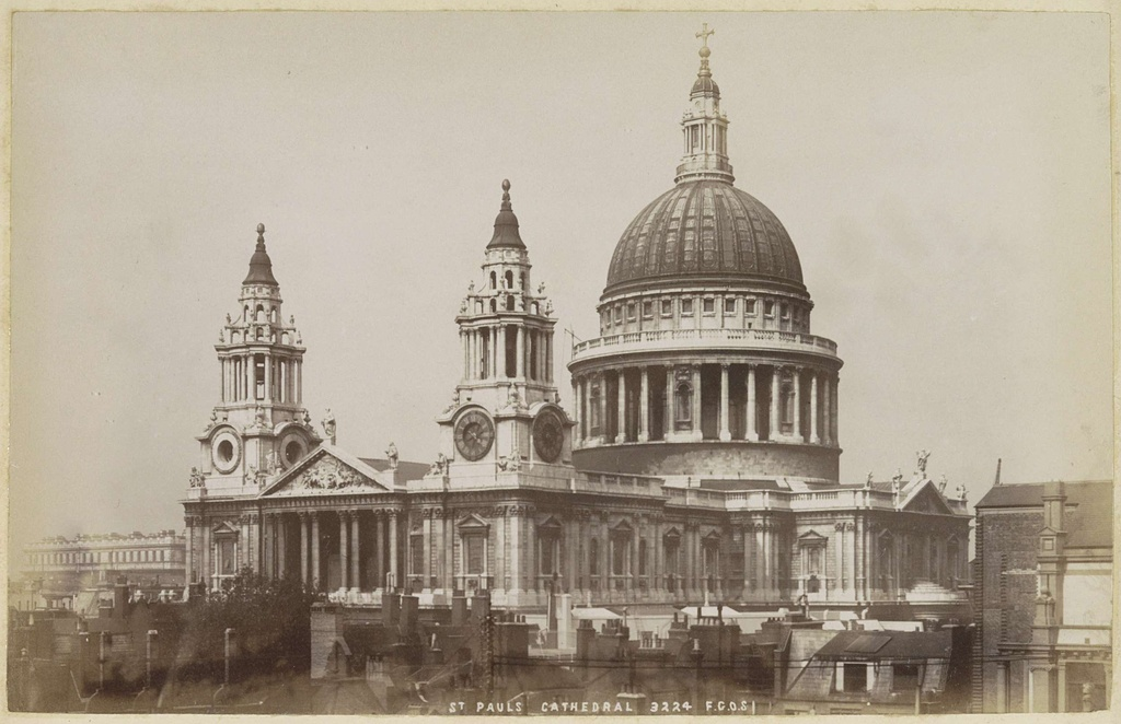 Exterieur van Saint Paul's Cathedral in Londen, St Pauls Cathedral