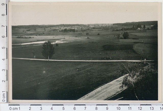 Rõuge landscape from the church tower towards Haanja, Võrumaa 1925