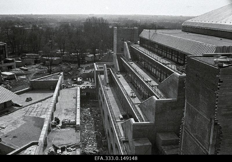 View of the construction of the National Library.