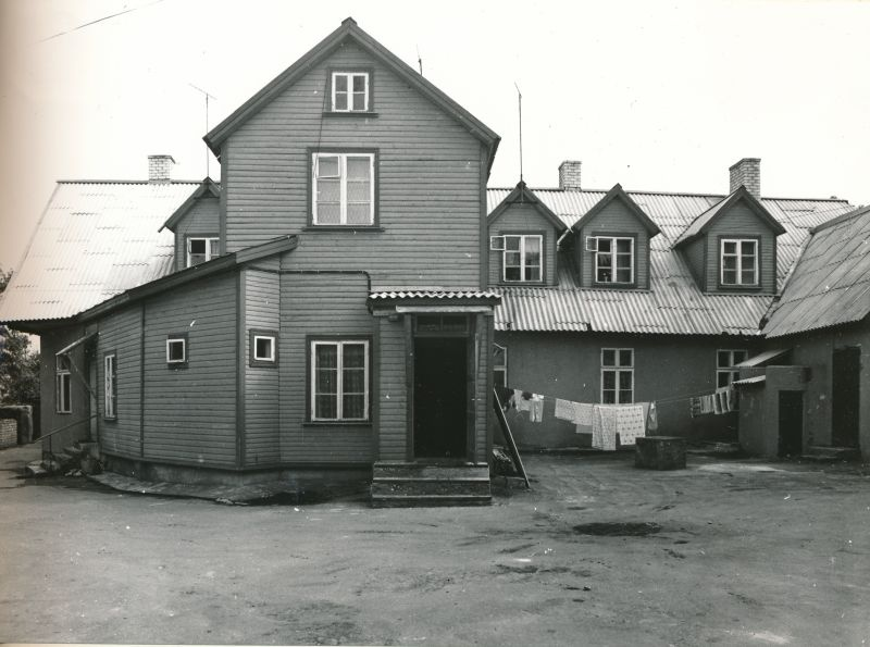 Photo. Bakery industry Haapsalu, Lauristini 5. Black and white. Located: Hm 7975 - Technical monuments of Haapsalu district