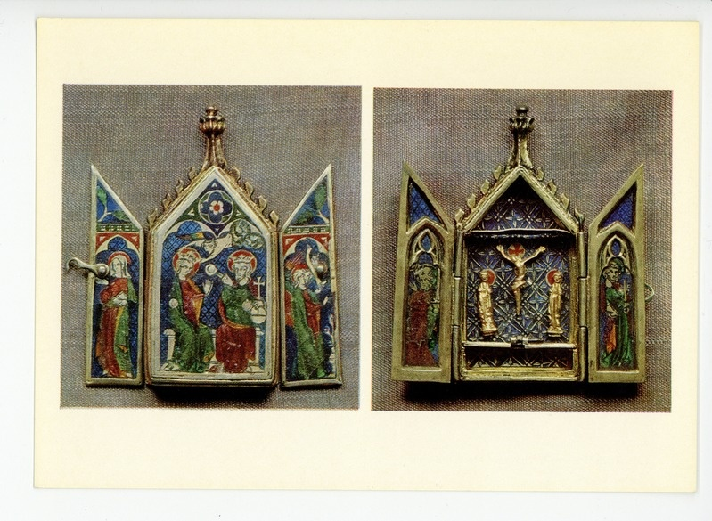 Reliquary Triptych with the Crucifixion, Coronation of the Virgin, Saint Peter and Saint Paul, and the Annunciation