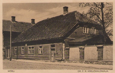 Postkaart. VÕRU. KREUTZWALDI MAJA. 1929.  similar photo