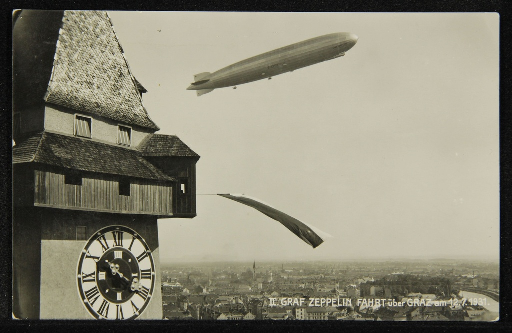 Ii. Graf Zeppelin's ride over the grass on 12.7.1931