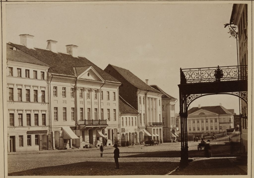 Tartu Raekoja square from the end of the University Street