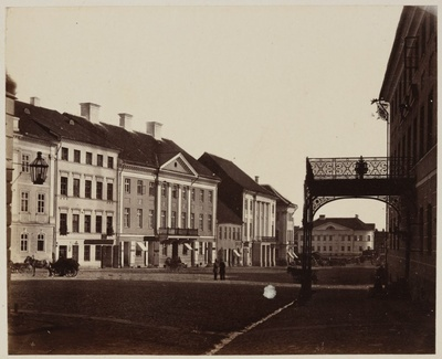 Tartu Raekoja square from the end of the University Street  duplicate photo