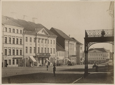 Tartu Raekoja Square from the end of the University  duplicate photo