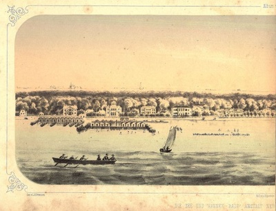 View of Cadrioru from the sea. Page from Tallinn album  duplicate photo