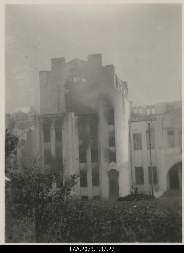 War breaks in Pärnu 23.09.1944, burning Building of Endla Theatre