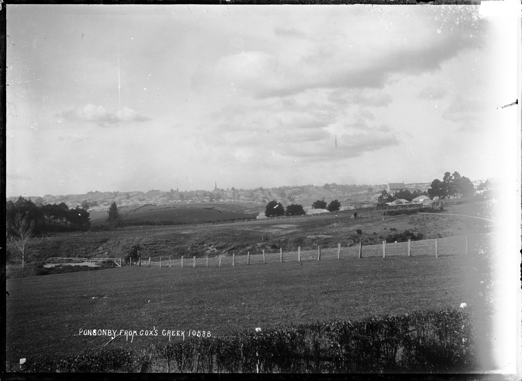 General view of Ponsonby from Cox's Creek looking east