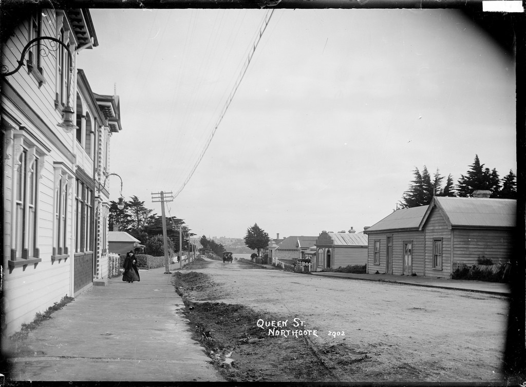View of Queen Street, Northcote, Auckland