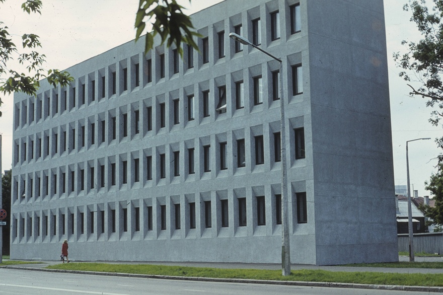 The building of the ECB District Committee in Tallinn. Architect Malle Kusma