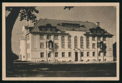 Printing Card, Facade of the building of Viljandi Department of Eesti Pank  duplicate photo