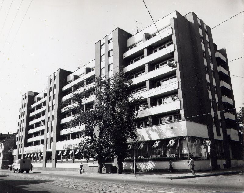 Apartment building in Tallinn, Tartu mnt 45/47. Arh. Ilmar Wood Forest