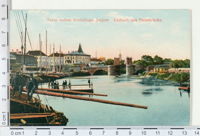 Tartu, harbour with a rock bridge