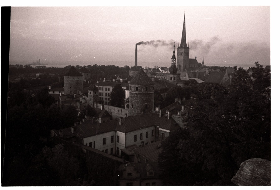 Tallinn, view from Toompea, on the forefront of the buildings of the former women cysters monastery.