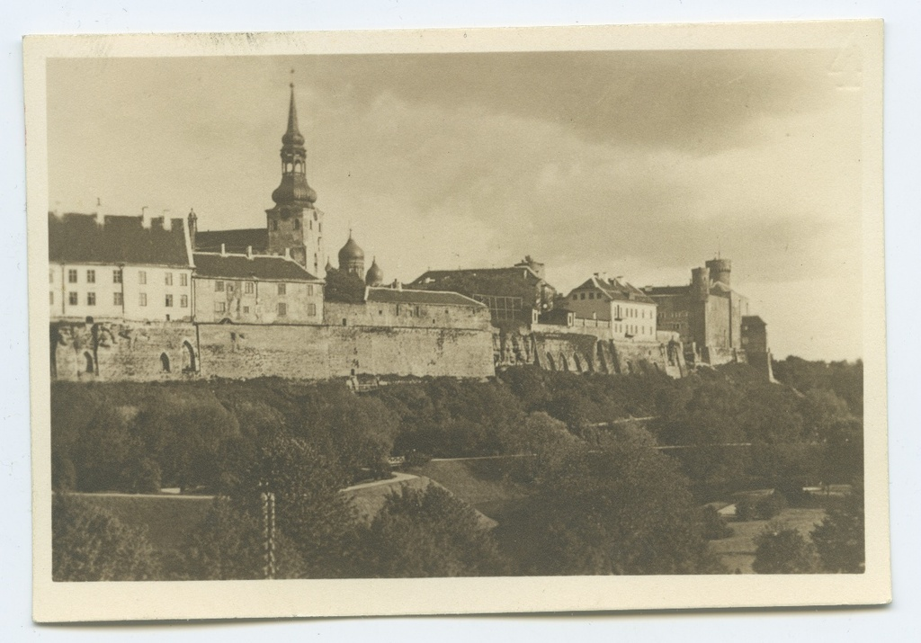Tallinn, view Toompea from the north.