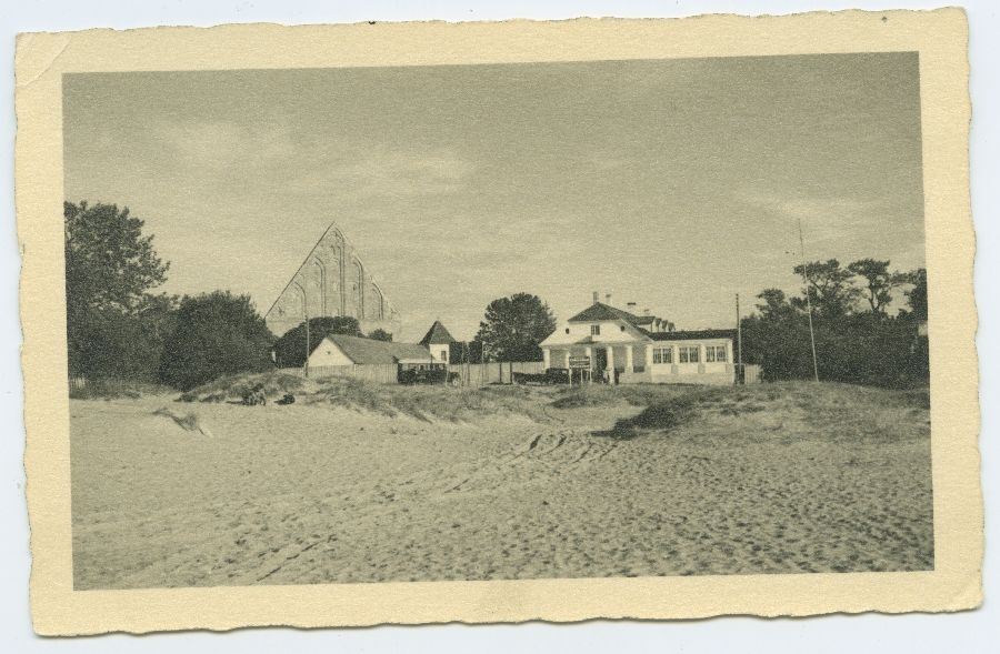 The ruins of Tallinn, Pirita, restaurant and monastery from the west.