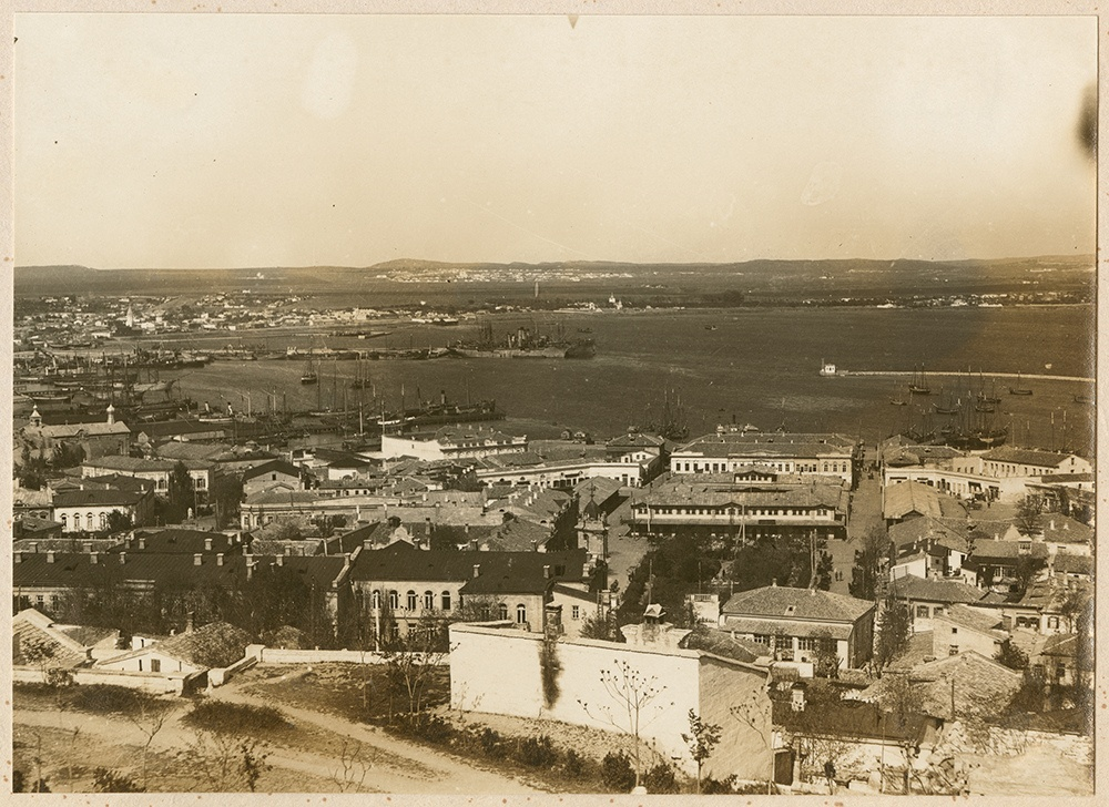 [View of Kertsch Harbor from the bluffs]