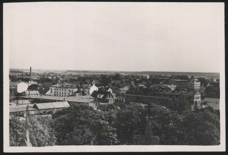 Photo, Viljandi, general view of the city from the tower of the Paulus Church to Tartu mnt