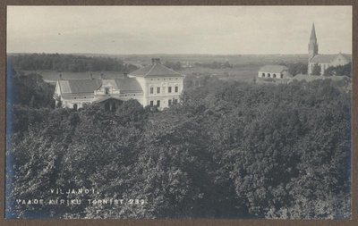 Photo, Viljandi, view from the tower of the Jan Church, approx. 1905  duplicate photo
