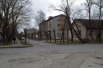 Station Street in Rakvere rephoto