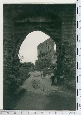 Ruins of the Order with the castle gate in Viljandi  similar photo