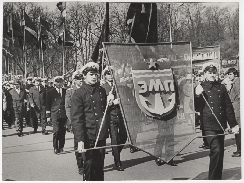 Employees of the Estonian Maritime Shipyard at the demonstration