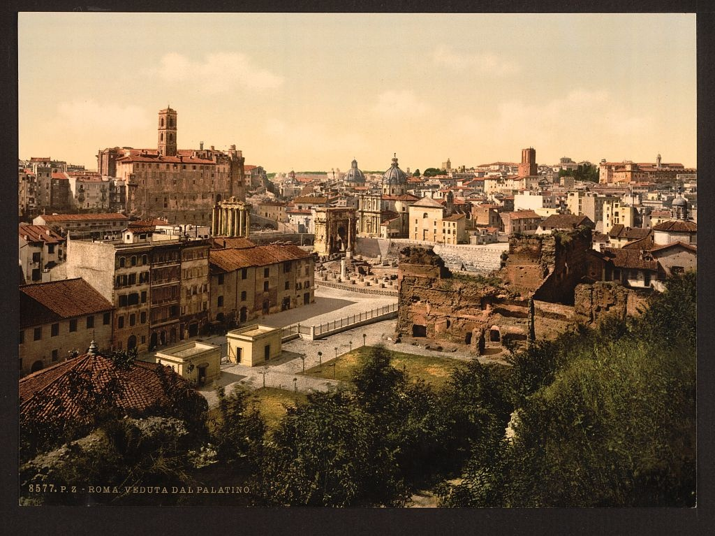 [A panorama from the Palatine, Rome, Italy] (LOC)