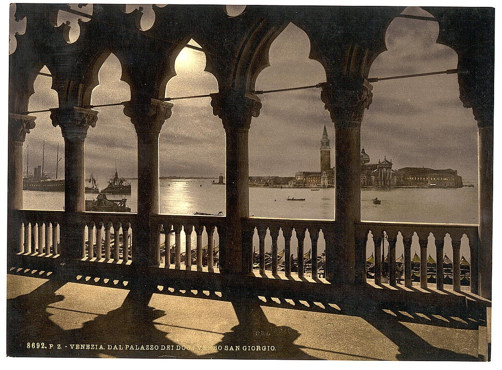 [San Georgio from Doges' Palace by moonlight, Venice, Italy] (LOC)