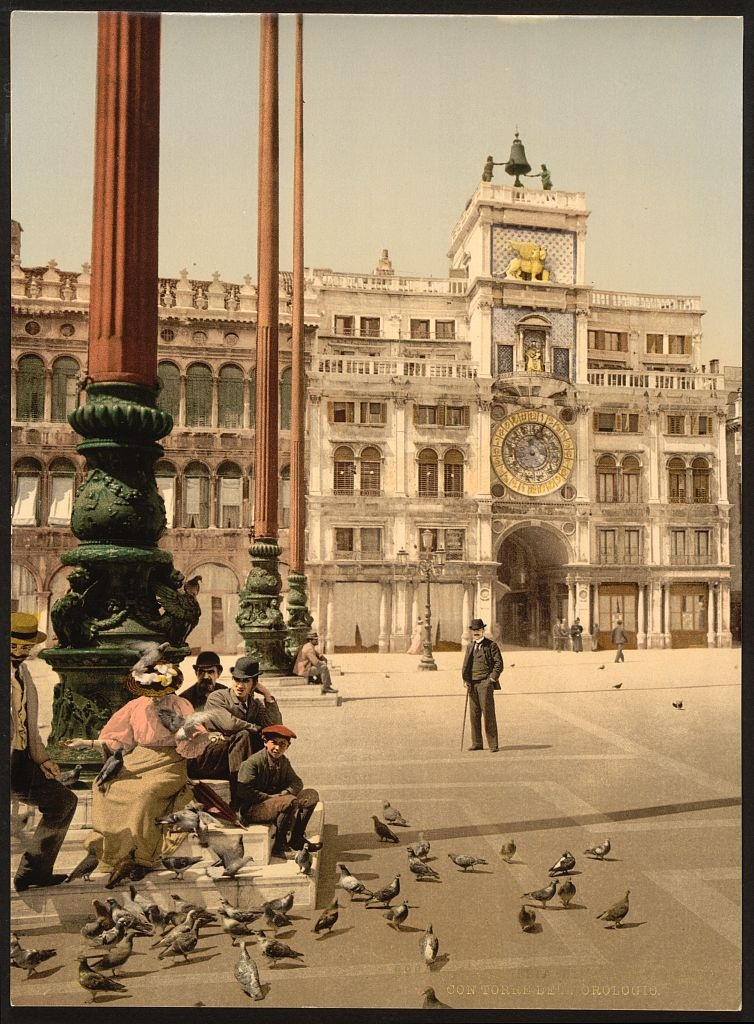 [St. Mark's Place and Clock, Venice, Italy] (LOC)
