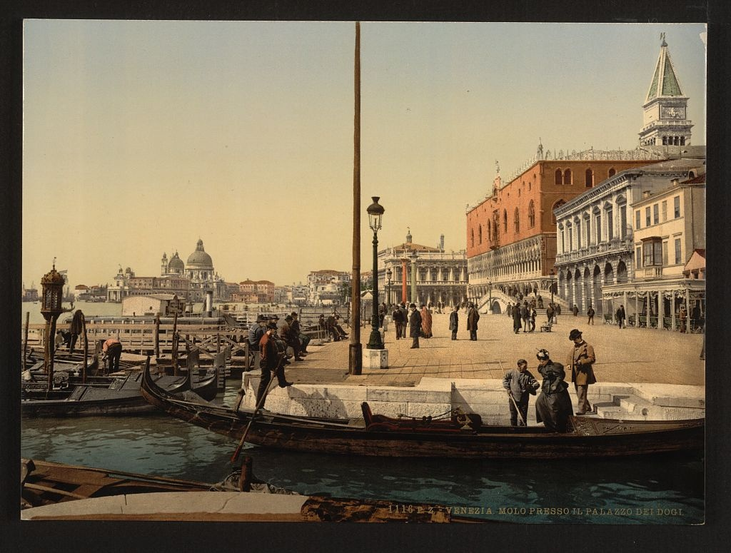 [In front of the Doges' Palace, Venice, Italy] (LOC)