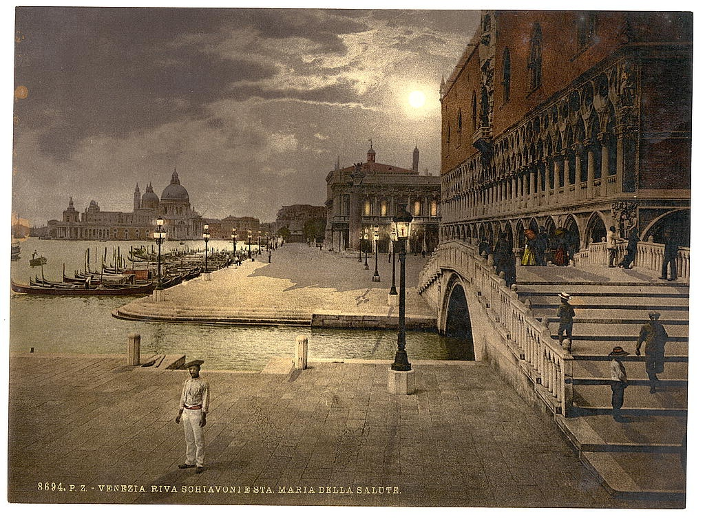 [doges' Palace and St. Mark's by moonlight, Venice, Italy] (Loc)