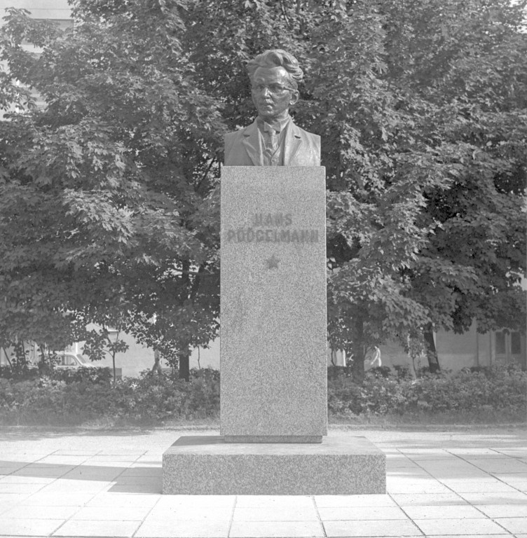 Hans Pöögelmann monument Harju county Tallinn Park between Imanta and Lembitu Street