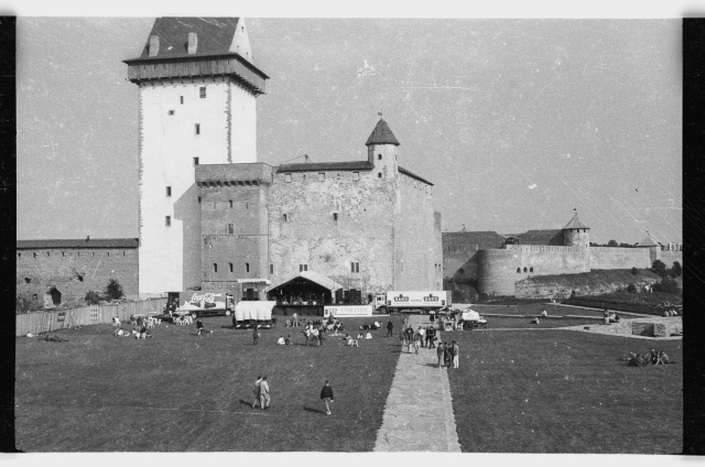 Rock festival at the courtyard of Narva Hermann Castle