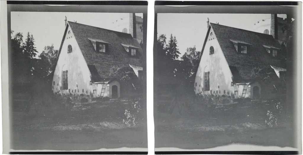 The Tarvaspää atelier house pictured from the southwest in June 1914