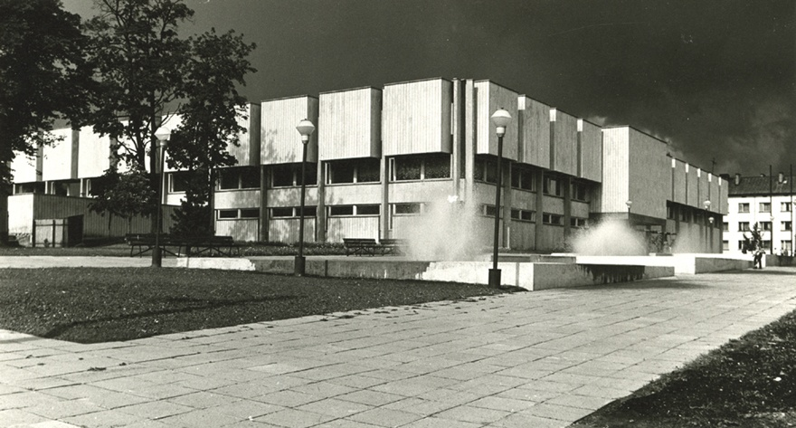 Tartu Ülikooli raamatukogu, vaade hoonele - Ajapaik